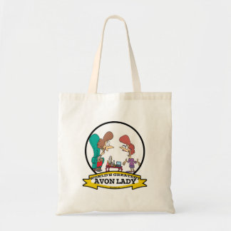 WORLDS GREATEST AVON LADY WOMEN CARTOON TOTE BAG