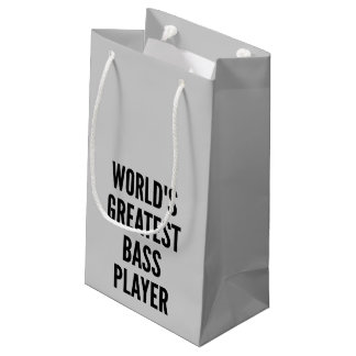 Worlds Greatest Bass Player Small Gift Bag
