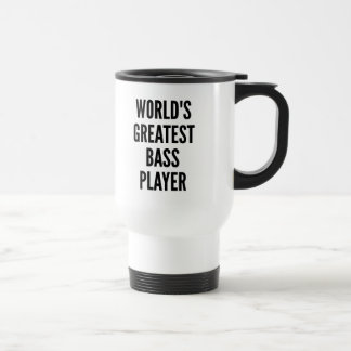 Worlds Greatest Bass Player Stainless Steel Travel Mug