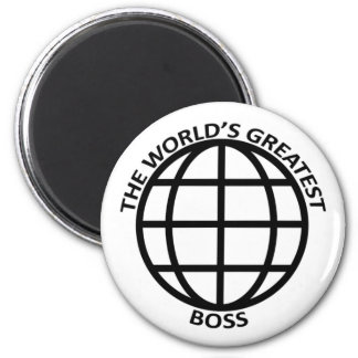 World's Greatest Boss 6 Cm Round Magnet