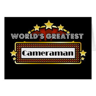 World's Greatest Cameraman Card
