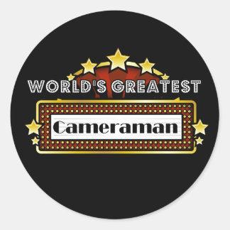 World's Greatest Cameraman Classic Round Sticker