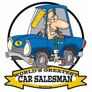 WORLDS GREATEST CAR SALESMAN MEN CARTOON PHOTO CUTOUT