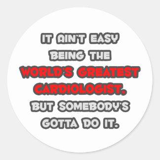 World's Greatest Cardiologist Joke Sticker