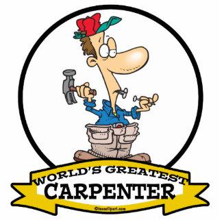 WORLDS GREATEST CARPENTER MEN CARTOON PHOTO CUT OUTS