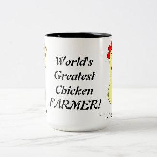 World's Greatest Chicken Farmer Two-Tone Coffee Mug