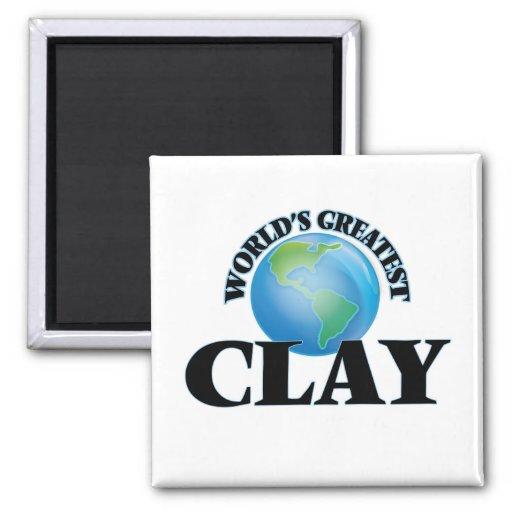 World's Greatest Clay Fridge Magnet