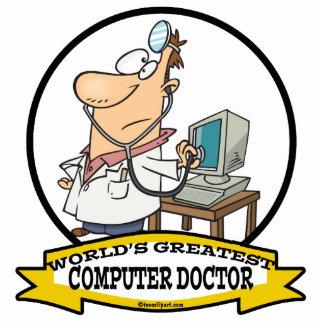 WORLDS GREATEST COMPUTER DOCTOR MEN CARTOON PHOTO CUTOUT