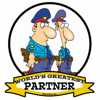 WORLDS GREATEST COP POLICE PARTNER MEN CARTOON PHOTO CUTOUT