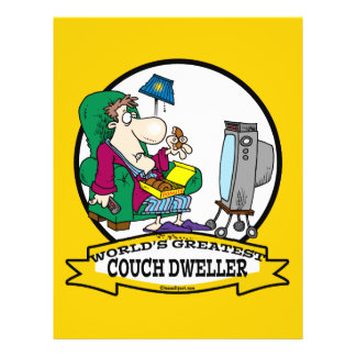 WORLDS GREATEST COUCH DWELLER CARTOON FULL COLOR FLYER