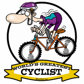 WORLDS GREATEST CYCLIST MEN CARTOON CUT OUT