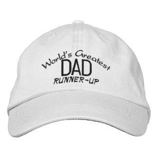 """World's Greatest Dad """"Runner-Up"""" Hat Embroidered Hats"""