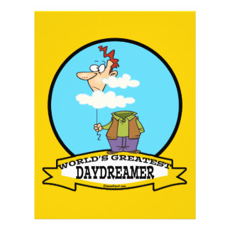 WORLDS GREATEST DAYDREAMER CARTOON PERSONALIZED FLYER