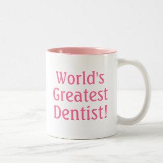 World's Greatest Dentist! Two-Tone Coffee Mug