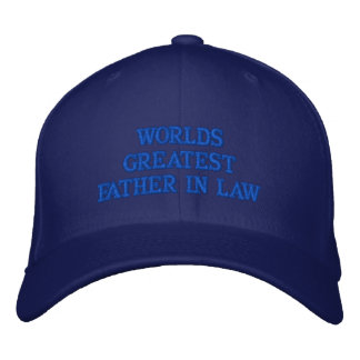 WORLDS GREATEST FATHER IN LAW EMBROIDERED HAT