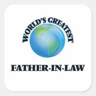 World's Greatest Father-in-Law Square Sticker