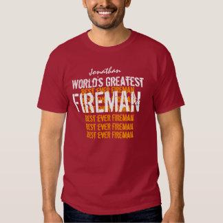 World's Greatest Fireman Shirts