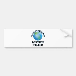 World's Greatest Fortune Teller Bumper Stickers