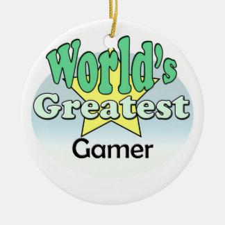 World's Greatest Gamer Christmas Ornament