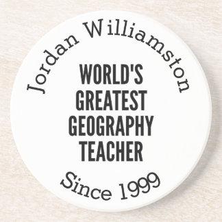 Worlds Greatest Geography Teacher Coaster