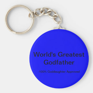 World's Greatest Godfather Basic Round Button Key Ring
