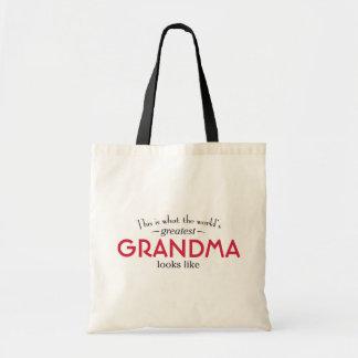 World's Greatest Grandma Budget Tote Bag