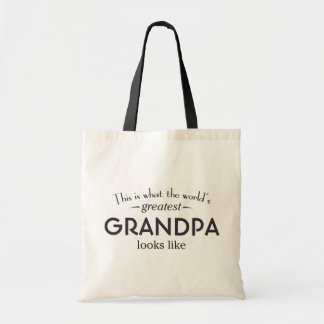 World's Greatest Grandpa Budget Tote Bag
