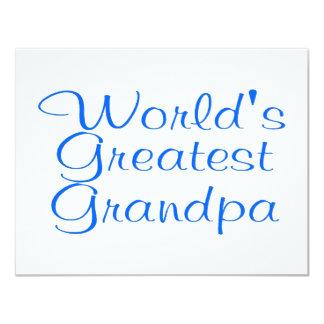 Worlds Greatest Grandpa 11 Cm X 14 Cm Invitation Card