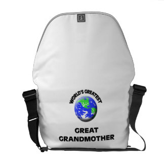 World's Greatest Great Grandmother Courier Bags
