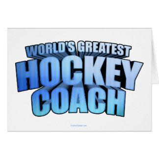 Worlds Greatest Hockey Coach Card