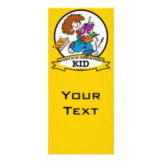 WORLDS GREATEST KID CARTOON CUSTOM RACK CARDS