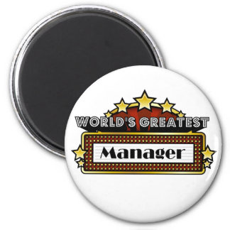 World's Greatest Manager 6 Cm Round Magnet
