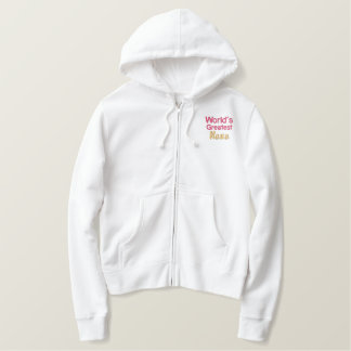 World's greatest nana embroidered hoodie
