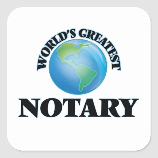 World's Greatest Notary Sticker