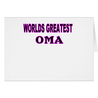 WORLDS GREATEST OMA CARD