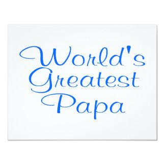 Worlds Greatest Papa 4.25x5.5 Paper Invitation Card