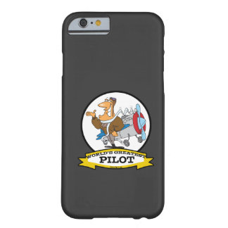 WORLDS GREATEST PILOT II MEN CARTOON BARELY THERE iPhone 6 CASE