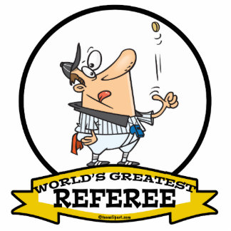 WORLDS GREATEST REFEREE MEN CARTOON PHOTO CUT OUT
