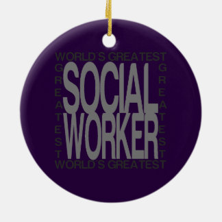 Worlds Greatest Social Worker Christmas Ornament
