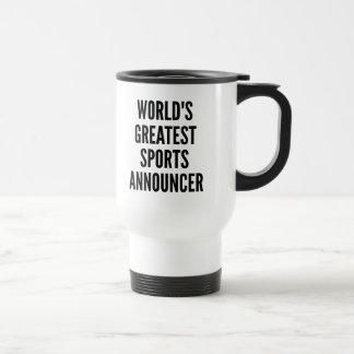 Worlds Greatest Sports Announcer Stainless Steel Travel Mug