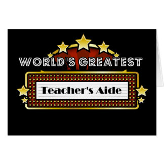 World's Greatest Teacher's Aide Card