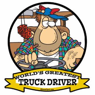 WORLDS GREATEST TRUCK DRIVER MEN CARTOON CUT OUT
