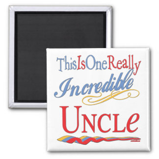 World's Greatest Uncle Square Magnet