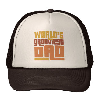 World's Grooviest Dad Retro Funny Cap