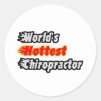 World's Hottest Chiropractor Round Sticker