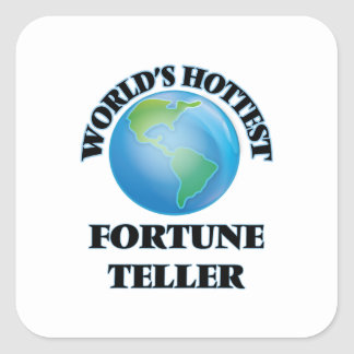World's Hottest Fortune Teller Square Stickers