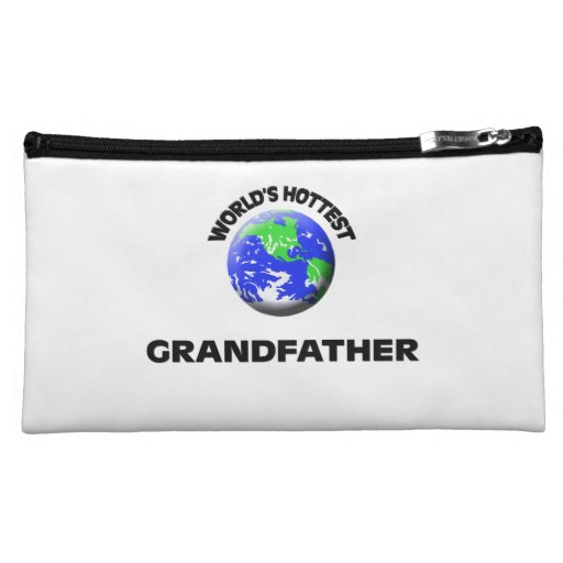 World's Hottest Grandfather Cosmetic Bags