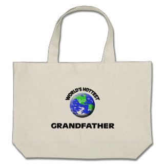 World's Hottest Grandfather Canvas Bag