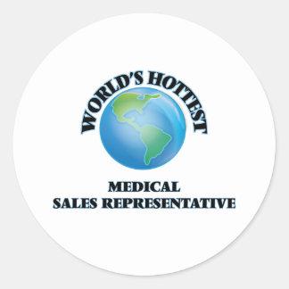 World's Hottest Medical Sales Representative Round Stickers