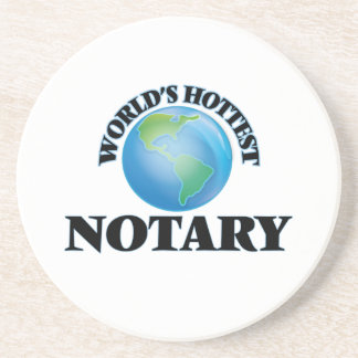 World's Hottest Notary Coasters